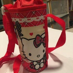 Other - Hello kitty water bottle holder.